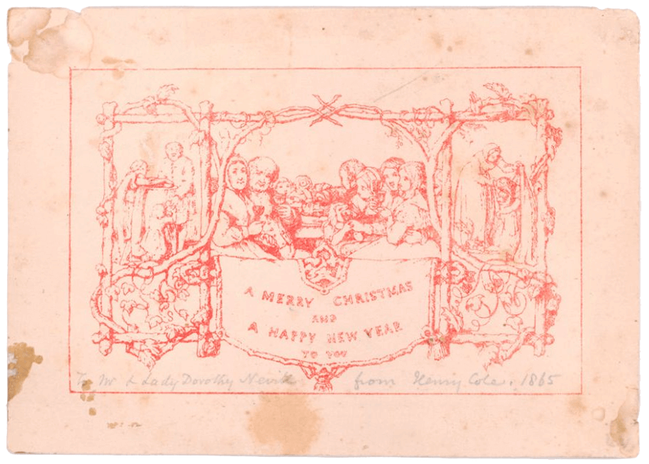 Shere history christmas card for Who commissioned the first christmas card in 1843