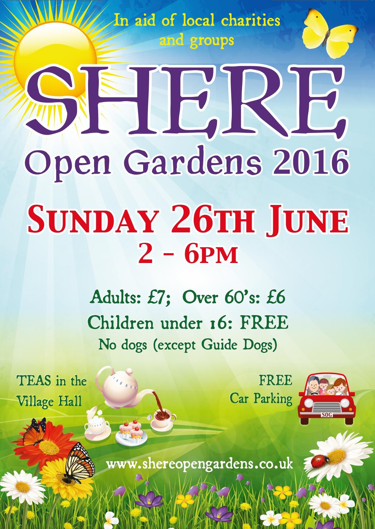 shere open gardens 2016